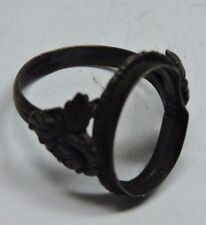 Antique Deco Germany Sterling Silver Ring Mounting Needs Stone Size 6.5  #P504