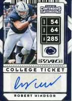 Robert Windsor 2020 Contenders Draft Indianapolis Colts Penn State RC Autograph