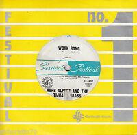HERB ALPERT & THE TIJUANA BRASS Work Song / Plucky 45