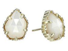 Kendra Scott Ivory Mother-of-pearl 14k Gold Plate Stud Tessa Earring Jewelry