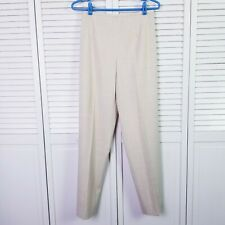 Women's TSE CASHMERE Made In Italy Lightweigh Wool Tan Ankle Career Pants Size 4