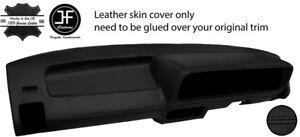 BLACK STITCH DASH DASHBOARD LEATHER COVER FOR VW GOLF JETTA CADDY MK1 SERIES 2