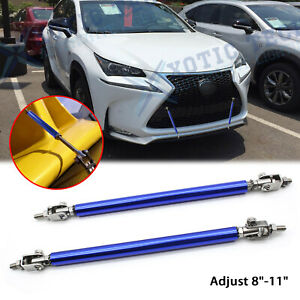 "For Lexus IS Adjustable 8""-11"" Blue Bumper Diffuser Strut Stabilizer Support Bar"