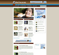 DOG TRAINING WEBSITE & AFFILIATE STORE + NEW DOMAIN & HOSTING