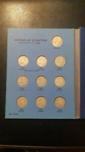 COMPLETE WHITMAN CANADA SILVER QUARTER BOOK 32 YEARS 1937 - 1968 **34 Coins**