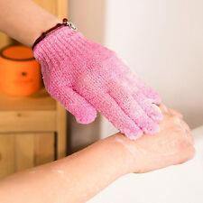 1 Pair Shower Exfoliating Wash Skin Spa Bath Gloves Massage Loofah Scrubber