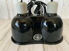 New listing Zoo Med Pet Reptile 2 Lamp 100w Dual Dome Heat Light Base Fixture for Terrarium