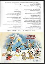 Walt Disney 1998 Holiday Card / 1999 Event Calendar Mickey Mouse Minnie Goofy