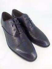 Italo Carli Para Hombre De Cuero Con Cordones Zapatos Azul Rrp £ 190 Reino Unido 8 UE 42 LN24 64