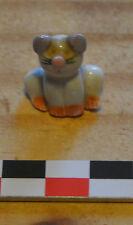 Miniature chaton (little cat) assis en porcelaine peinte multicolore