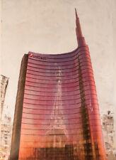 Bencini,Piazza Gae Aulenti, acrilico su tela, 100x70 cm, opera unica