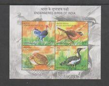 India - 2006, Endangered Birds of india sheet - MNH - SG MS2350
