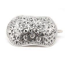 Victorian Small Daisy Sterling Silver Hair Pin Barrette