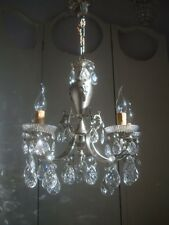 ~~ stunning silver vintage french crystal chandelier ~~
