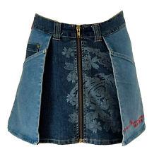 Evisu Genes Japanese denim A-line skirt size M