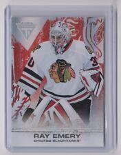 11-12 2011-12 Panini Titanium Spectrum Ruby #29 Ray Emery 38/99 Blackhawks