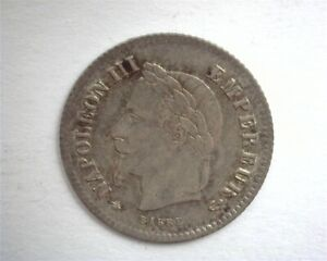 FRANCE 1867-A SILVER 20 CENTIMES CHOICE UNCIRCULATED