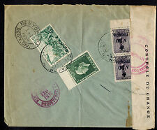 GREECE 1939 CENSORED REGISTERED COMMERCIAL COVER*THESSALONIKI TO NEW YORK, NY