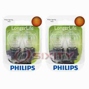2 pc Philips Rear Side Marker Light Bulbs for Ford Bronco Cougar Crown gd
