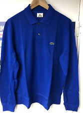 LACOSTE POLO SHIRT MENS ROYAL BLUE LONG SLEEVE - SIZES 2 / 3 / 4 / 5 / 6