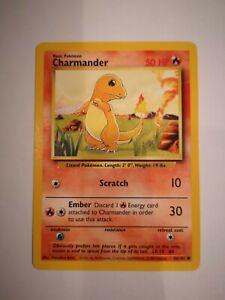 Pokemon Card Charmander 46/102 Base Set WOTC Wizards
