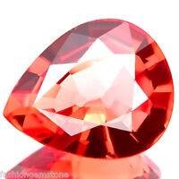 0.84 ct FLAWLESS BEST PADPARADSCHA COLOR NATURAL SAPPHIRE STUNNING RARE GEM-IF!