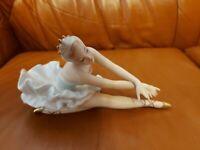 Wallendorf  Porzellanfigur -Ballerina-Tänzerin -Schwanensee-Sterbende Schwan-2