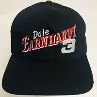 Vintage Dale Earnhardt 3 NASCAR Hat Racing Legend Cap Adjustable Black Snapback