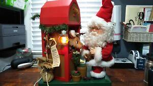 Santas Best DASHER'S DINER Vintage Christmas Lighted Animated Santa and Reindeer