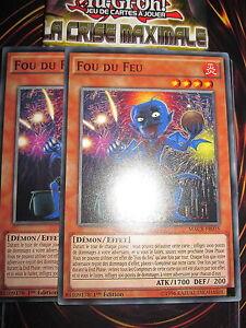 YU-GI-OH! COM FOU DE FEU MACR-FR035 PLAYSET (LOT DE 2 CARTES) NEUF MINT FRANCAIS