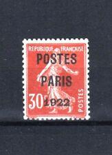 "FRANCE YVERT PREOBLITERE 32 "" PRECANCEL SOWER 30c POSTES PARIS 1922"" MH VF R649"