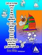 Livre de Coloriage Bateaux Voile Eau Mer Océan Vagues Amusement Pour Tout le...