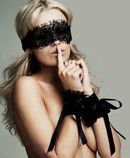 Set sexy masque + attaches dentelle menottes / Set sexy lace mask + handcuffs