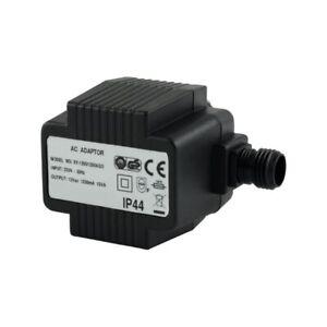 Trafo Wechselspannung 15W IP44 12V AC Steckertrafo Gartensystem