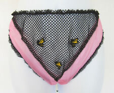 Vintage 1950s Glydons Of Hollywood 3 Bees Panties Size Small Pink Nylon Black