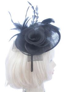 Große Schwarze Hut Mit Stirnband, Hochzeit, Rennen, Damen Tag