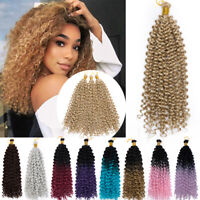 US 6Packs Passion Twist Hair 14 Inch Water Wave Crochet Brading Hair Extensions