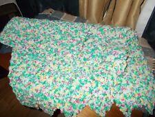 Handmade Afghan Afgan Blanket Throw 52 by 57 Vintage Multicolored EUC