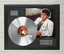 "MICHAEL JACKSON - THRILLER PLATINUM LP FRAMED SIGNATURE DISPLAY ""M4"""