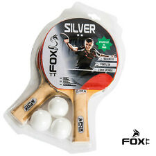 Table Tennis Bats and Balls Fox TT Silver 2 Star 2 Player Set