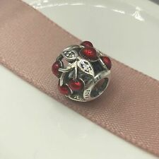 NEW Authentic Pandora Charms Sweet Cherries Red Enamel & CZ Charm #791900EN73