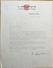Spokane, WA 1920 Color Letterhead: Cattle, Hogs & Sheep, Livestock - I Applebaum