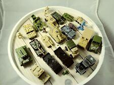 Toy LOT Vintage Diecast Asst Tanks Jeeps Humvees Work Carrier Trucks Military