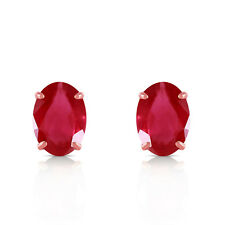 1.8 Carat 14K Solid Rose Gold Stud Earrings Natural Ruby
