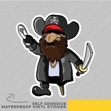 Capitán Pirata con Espada Y Gancho Ventana Pegatina Calcomanía Vinilo Coche Furgoneta Bici 2278