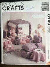 Living Room Bedroom Furniture & Canopy McCalls Pattern 8140 Fits Barbie Doll