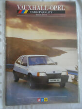 Vauxhall Opel range brochure Mar/May 1986 Nova, Astra, Cavalier, Manta, Monza