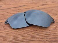 Black Iridium Polarized Replacement lenses for-Oakley Fast Jacket