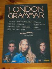 LONDON GRAMMAR - 2017 AUSTRALIA Tour -  Laminated  Promo Poster