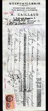 """ISSOUDUN (36) QUINCAILLERIE pour MEUBLES & BATIMENT """"M. CAILLAUD"""" 1933"""